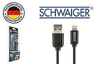 Оригинальный кабель Apple Lightning to USB от Schwaiger MFi сертифицирован черный 15см