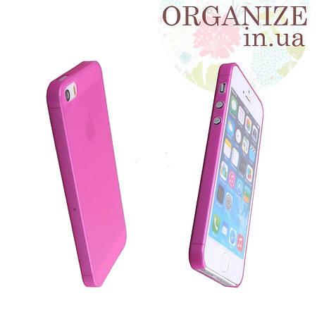 Чехол для Iphone 5 / 5S однотонный (малиновый)