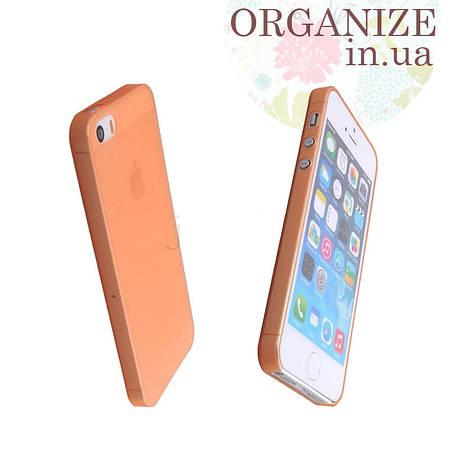 Чехол для Iphone 5 / 5S однотонный (оранжевый)