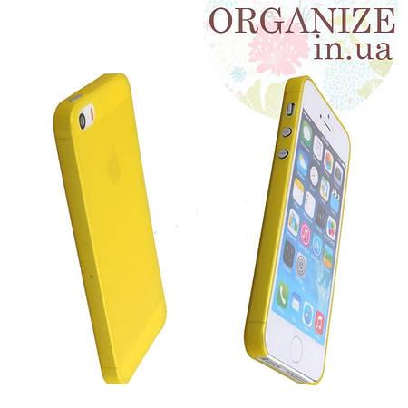 Чехол для Iphone 5 / 5S однотонный (желтый)