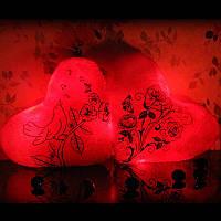 """Подушка ночник """"Розы"""""""