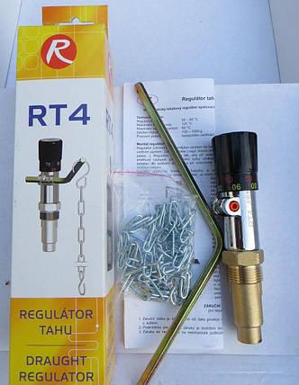 Регулятор тяги Regulus RT-4 для твердотопливного котла механический, фото 2