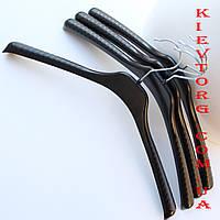 Вешалки плечики пластиковые для верхней одежды и трикотажа черные, 38 см