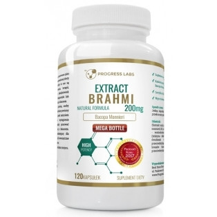 Диетическая добавка витамины Progress Labs Brahmi Bacopa Monnieri Extract 50% Bacosides 120 caps
