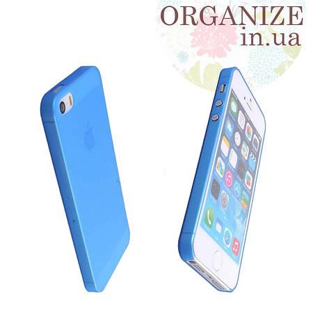 Чехол для Iphone 5 / 5S однотонный (голубой)