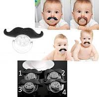 Соска-пустышка - шутки для малышей в виде усов
