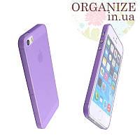 Чехол для Iphone 5 / 5S однотонный (фиолетовый)