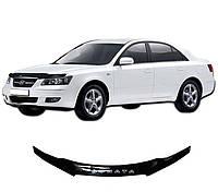 Дефлектор капота  Hyundai Sonata NF с 2004, Мухобойка Hyundai Sonata NF