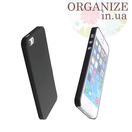 Чехол для Iphone 5 / 5S однотонный (черный)