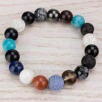 Браслет из разных камней (10мм) (B0532)