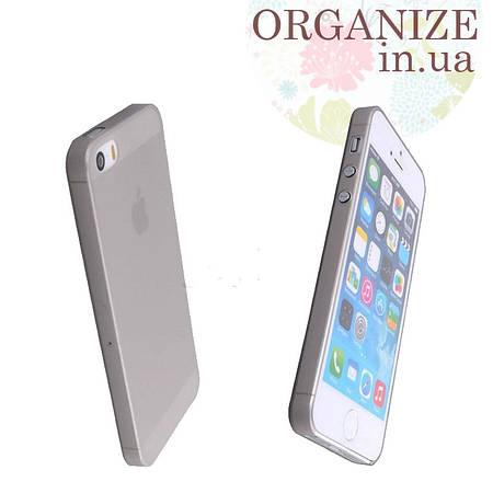 Чехол для Iphone 5 / 5S однотонный (светло-серый)