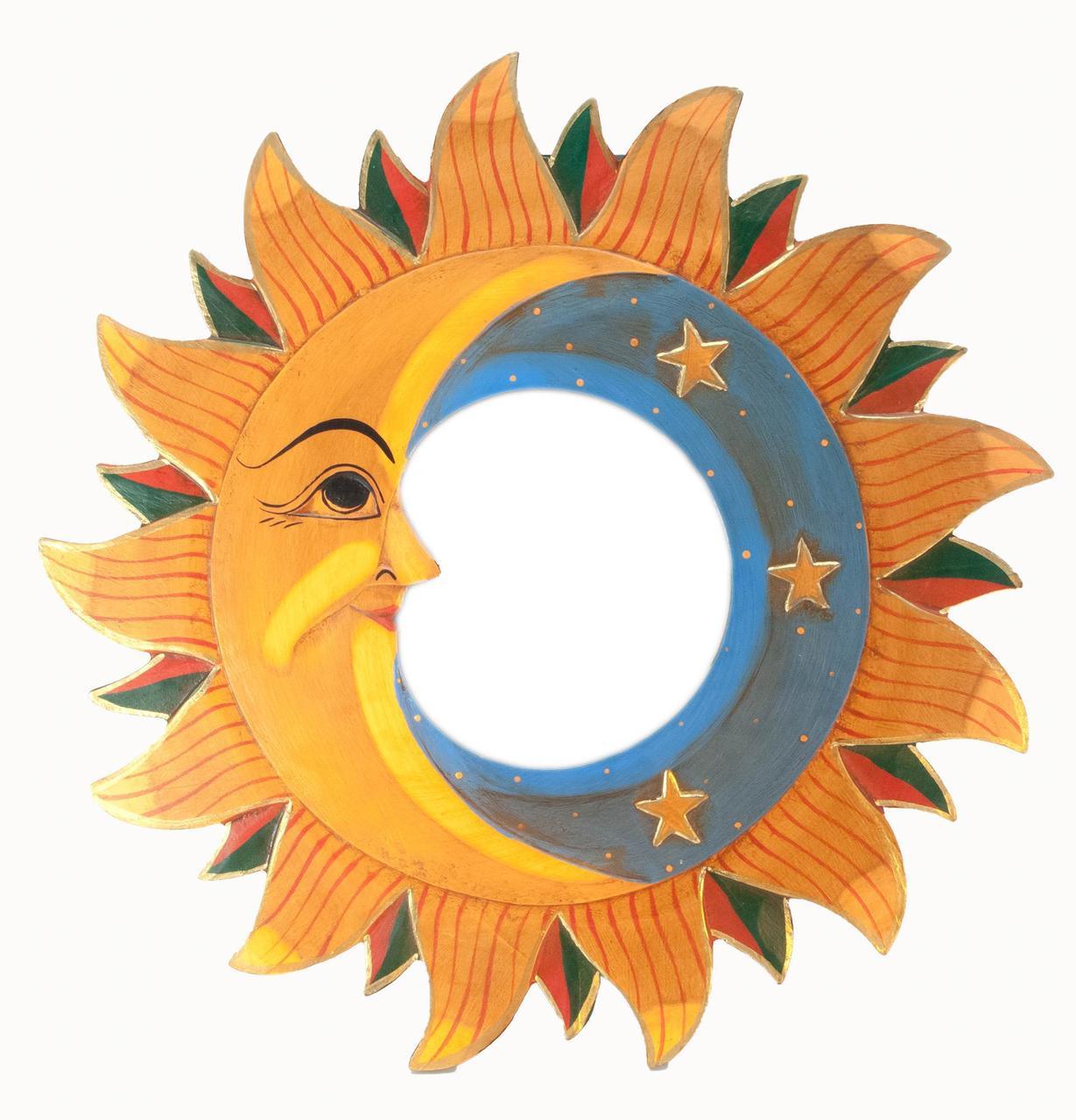 "Зеркало мозаичное ""Луна и Солнце"" (d-40 cм)"