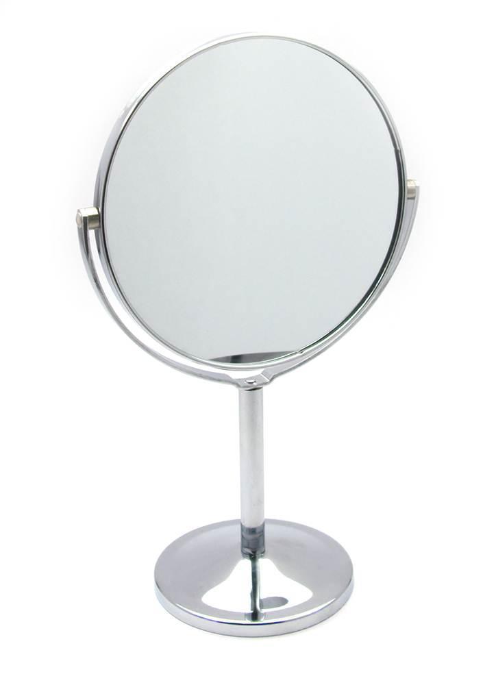 Зеркальце круглое настольное металл (d-13 см)(20х14х8,5 см)