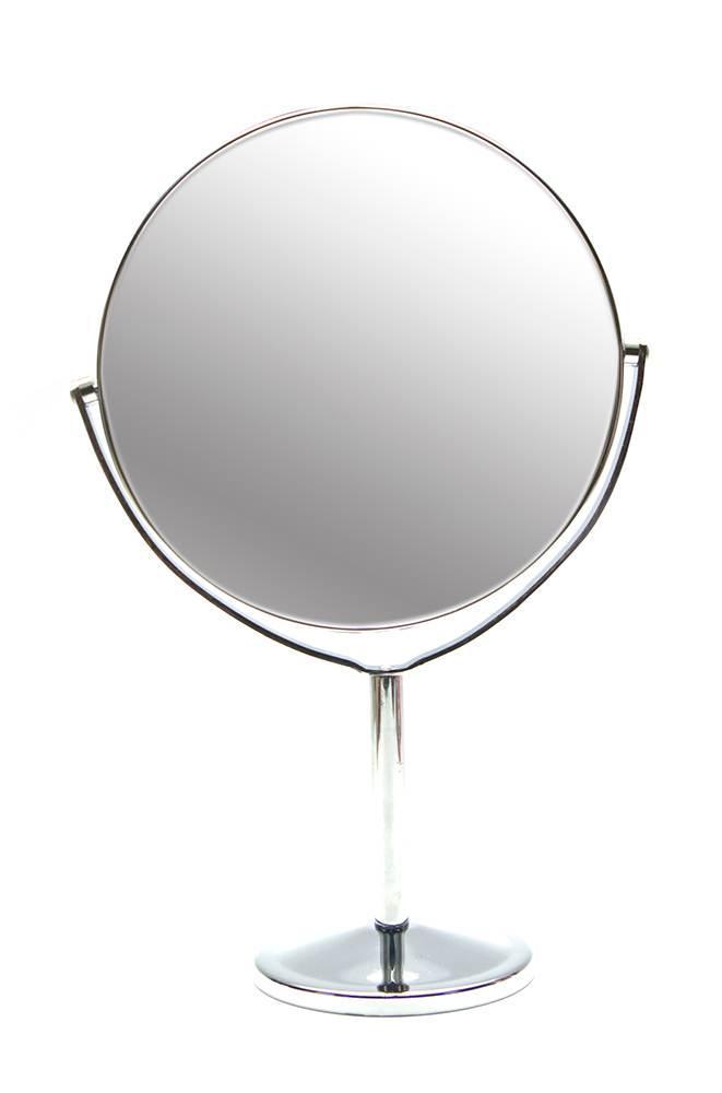 Зеркальце круглое настольное металл (d-17,5 см)(27х17,5х10 см)