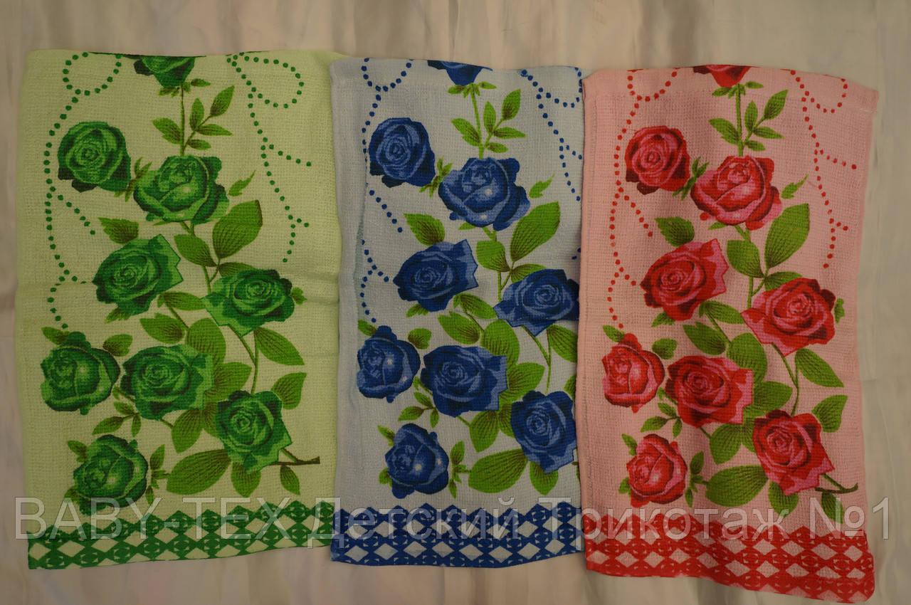 Полотенце Яркие Розы для кухни хлопок