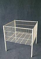 Акційний стіл , кошик підлогова, демонстраційний стіл 600х600х800 (h)