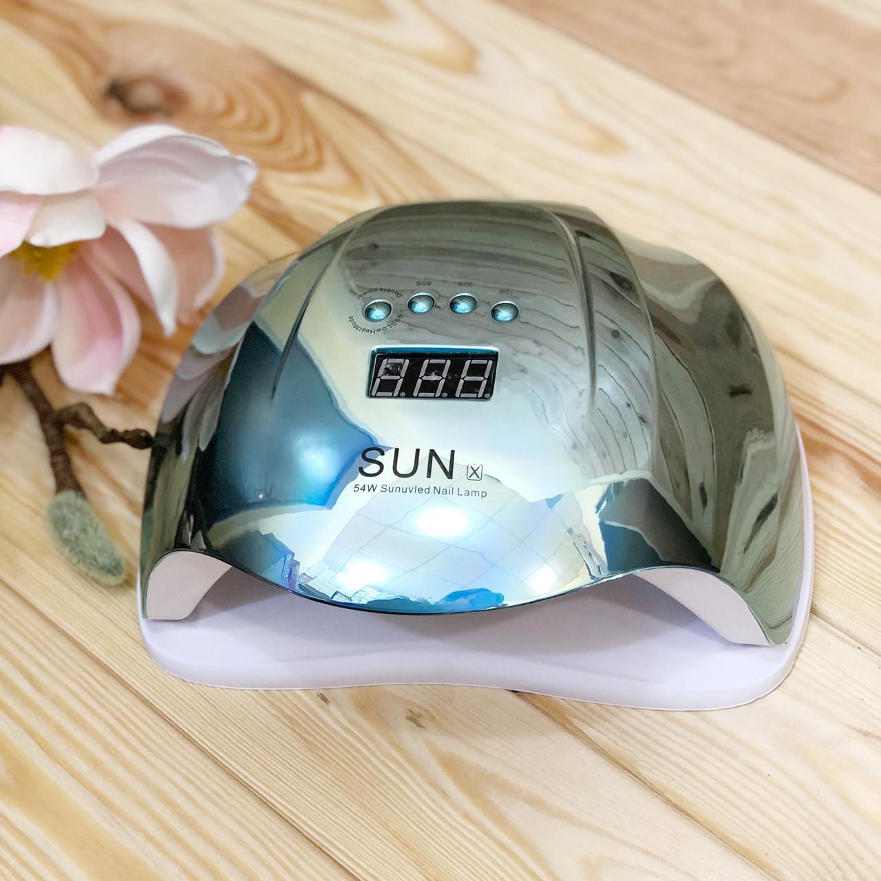 Лампа для манікюру SUN X Mirror Blue UV/LED, 54 Вт