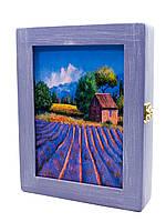 Ключница Super Hit Лаванда массив дерева (25,5х19,5х5,5 см) фиолетовая