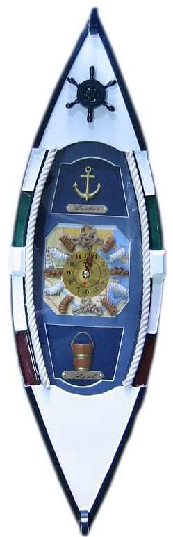 Ключница Super Hit Лодка с часами (49,5х15х10 см)