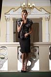 Жилет из финской длинношерстной чернобурки SAGA Furs и черного мутона, фото 4