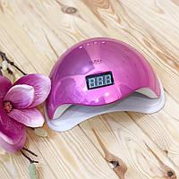 Лампа для маникюра LED+UV SUN 5 48 Вт Mirror Pink (зеркальная), фото 1