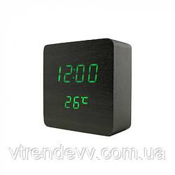 Часы электронные настольные квадратные LED VST-872 черные
