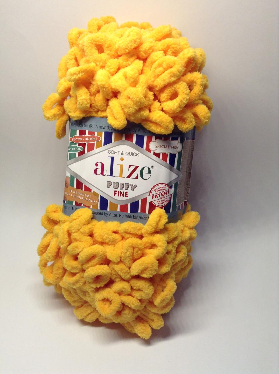 Пряжа для вязания руками без спиц Puffy Fine Alize (100 грамм - 14 метров)