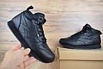 Мужские зимние ботинки Reebok высокие (черные), фото 7