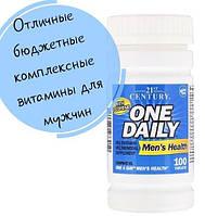 21st Century, One Daily, для мужского здоровья, 100 таблеток, официальный сайт