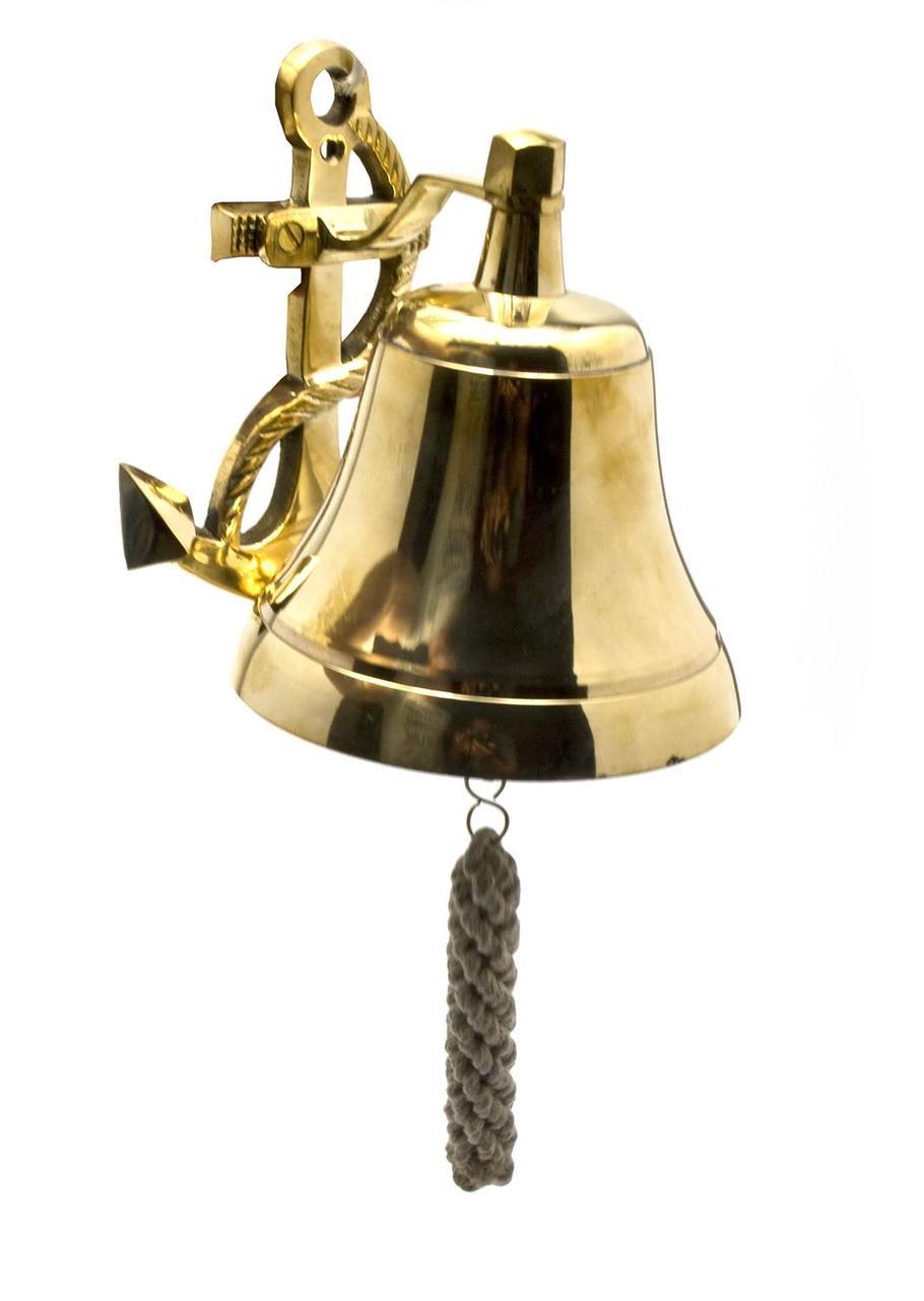 Колокол рында с якорем бронза (d-13 см h-16,5 см)(850 г.)