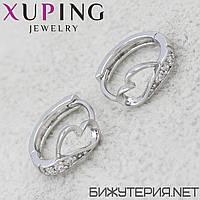 Серьги Xuping медицинское золото Silver - 1032909099