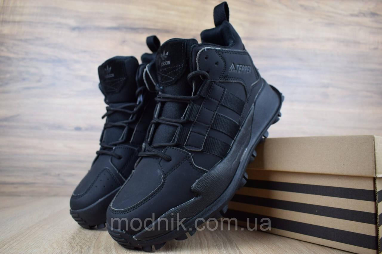 Мужские зимние кроссовки Adidas Terrex (черные)