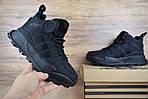 Мужские зимние кроссовки Adidas Terrex (черные), фото 3