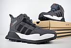 Мужские зимние кроссовки Adidas Terrex (серые), фото 8