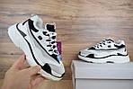 Женские зимние кроссовки Skechers D'Lites (бело-черные), фото 2