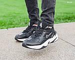 Мужские зимние кроссовки Nike M2K Tekno (черно-белые), фото 3