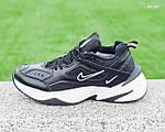 Мужские зимние кроссовки Nike M2K Tekno (черно-белые), фото 4