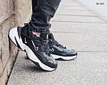 Мужские зимние кроссовки Nike M2K Tekno (черно-белые), фото 5