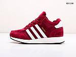 Мужские зимние кроссовки Adidas Iniki Runner (бордовые), фото 3