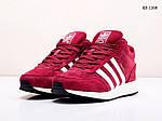 Мужские зимние кроссовки Adidas Iniki Runner (бордовые), фото 5