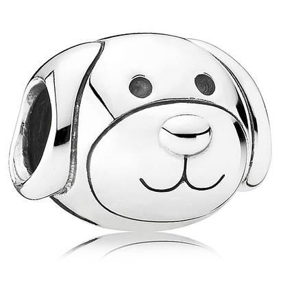 Шарм «Собака» из серебра 925 пробы в стиле Pandora