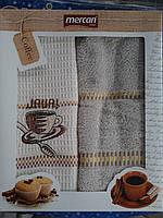 """Набор кухонных полотенец махра + вафельное """"Mercan"""" Турция"""