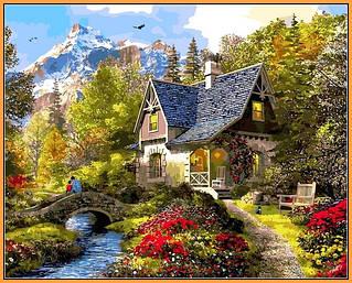 Картины по номерам на цветном холсте в раме Babylone Premium