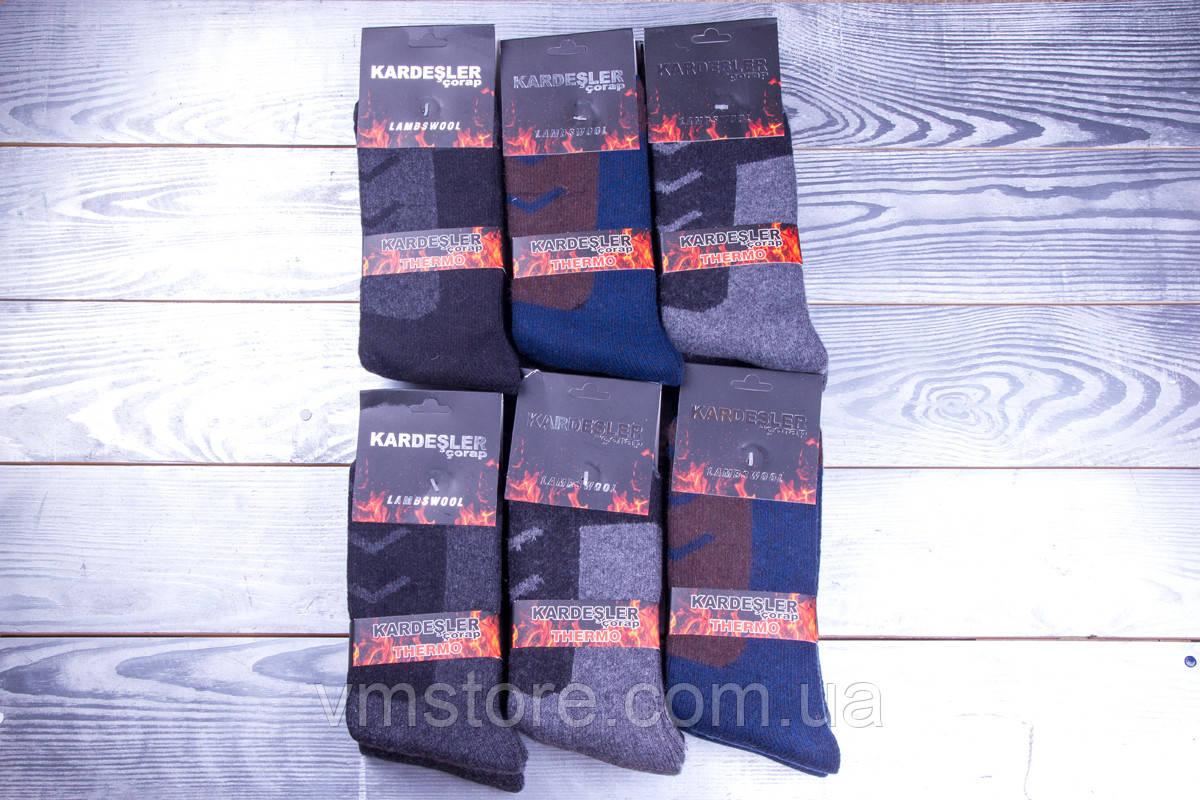 Термо носки мужские, шерстяные, Kardesler , упаковка 12 пар