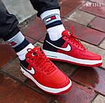 Мужские кроссовки Nike Air Force 1 07 LV8 (красно-белые), фото 7