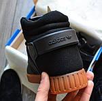 Мужские кроссовки Adidas Tubular Invader Strap (черные), фото 2