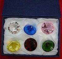 Кристаллы хрустальные  (н-р 6 шт)(d-5 см)
