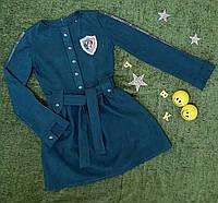 """Плаття на дівчинку р. 164 """"Стиль"""", джинсовий колір"""