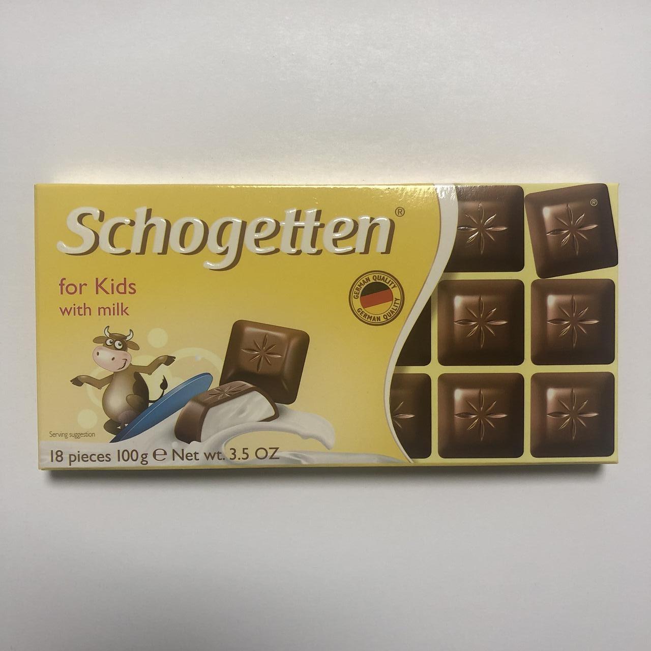 Шоколад молочный «Schogetten» for Kids (для детей), 100 г.