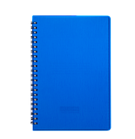 """Книжка записна Buromax """"RAIN"""" на пружині, А5, 80 аркушів, клітинка, синій (BM.24552152-02)"""